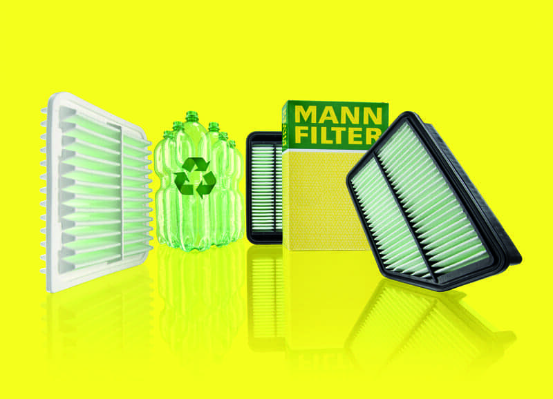 Now Even More Recycled Fibers in Air Filters from MANN-FILTER