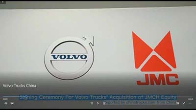 Video Inside: Signing Ceremony For Volvo Trucks' Acquisition of JMCH Equity