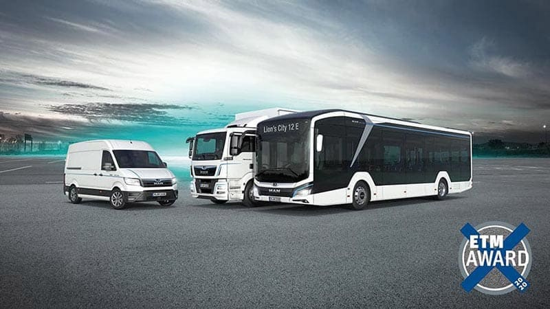 Best Truck, Best Van & Best Bus: MAN Claims Ten of the Coveted Prizes at the 2020 ETM Awards
